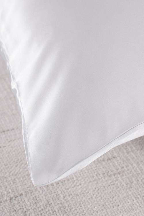 Royal Comfort White Silk Pillowcase Twin Pack