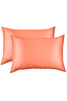Royal Comfort Coral Silk Pillowcase Twin Pack - 257602