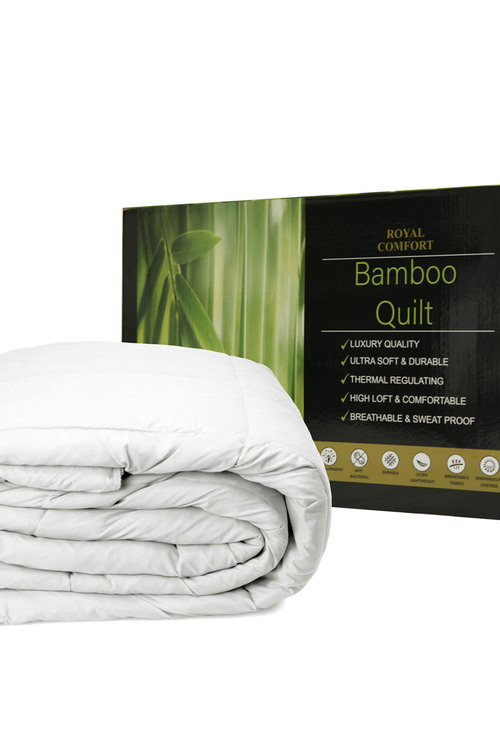 Royal Comfort 350gsm Boxed Bamboo Quilt