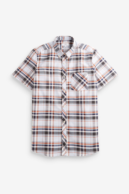 Next Short Sleeve Madras Check Shirt