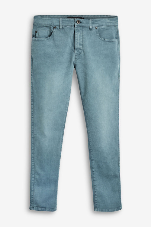 Next Garment Dyed Jeans With Stretch-Slim Fit
