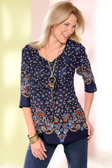 Euro Edit Printed Tunic - 257675