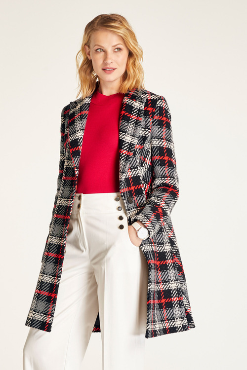 Heine Plaid Coat