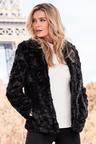 Kaleidoscope Crushed Faux Fur Jacket