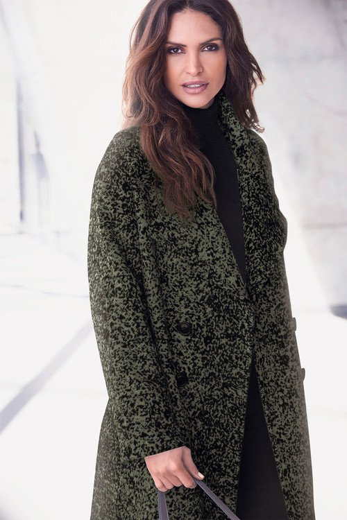 Kaleidoscope Mottled Green Coat