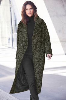 Kaleidoscope Mottled Green Coat - 257684