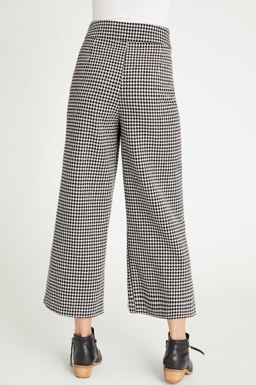 Emerge Houndstooth Wide Leg Pant