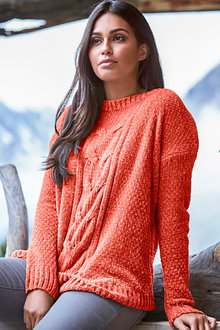 Urban Cable Pattern Chenille Jumper - 257742