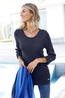 Euro Edit Knit Pullover - 257755