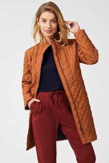 Capture Quilted Longline Puffer Jacket - 257763