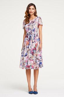 Heine Floral Waist Tie Dress - 257764