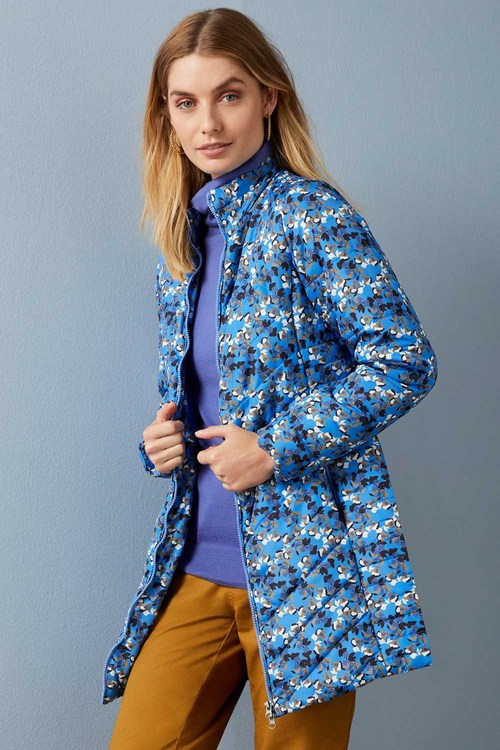 Capture Longline Printed Puffer Jacket
