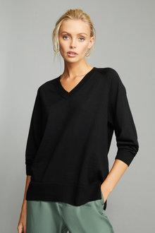 Emerge Merino V Neck Sweater - 257773