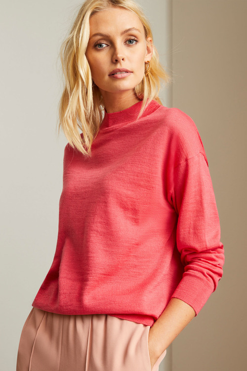 Emerge Merino Mock Neck Sweater