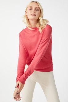 Emerge Merino Mock Neck Sweater - 257774