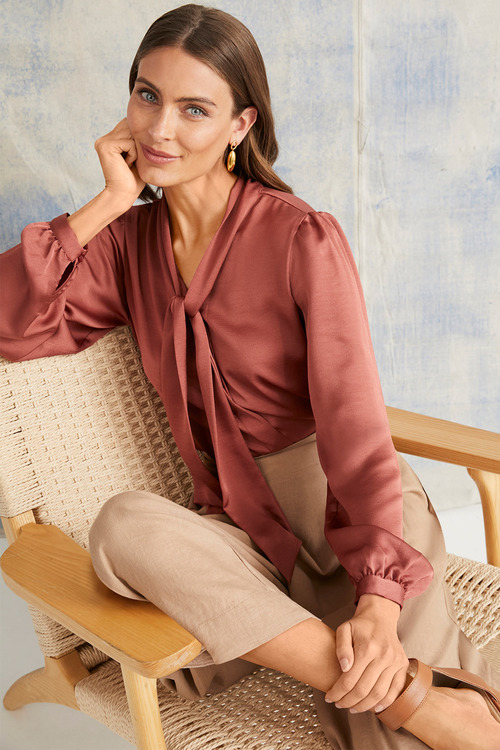 Grace Hill Pussy Bow Blouse