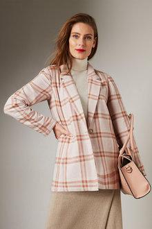 Grace Hill Linen Blend Tailored Jacket - 257777