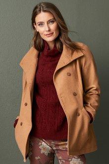 Capture Wool Blend Peacoat - 257785