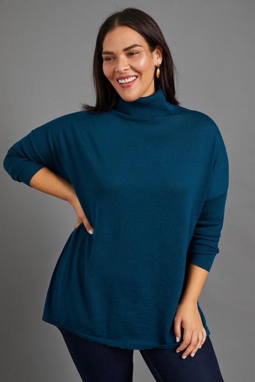 Sara Merino Roll Neck Sweater