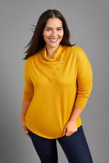 Sara Merino Cowl Neck Sweater - 257916