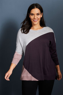 Sara Merino Spliced Sweater - 257921