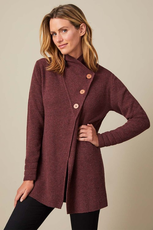 Capture Lambswool Button Neck Cardigan