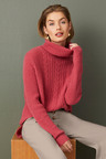 Capture Lambswool Cable Cowl Sweater