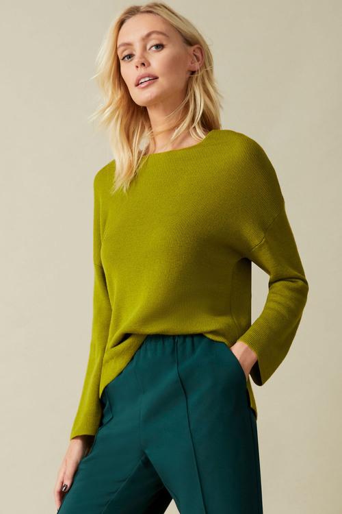 Emerge Merino Rib Boatneck Sweater