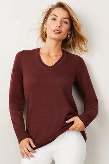 Capture Merino Classic V Neck Sweater - 257963