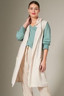 Grace Hill Cashmere Blend Hooded Cardi - 257977
