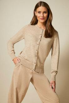 Grace Hill Cashmere Blend Button Up Cardi - 257980