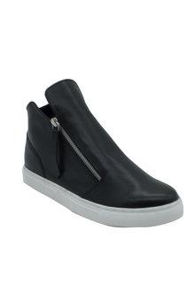 Soda Swank Leather Zip Sneaker - 257992