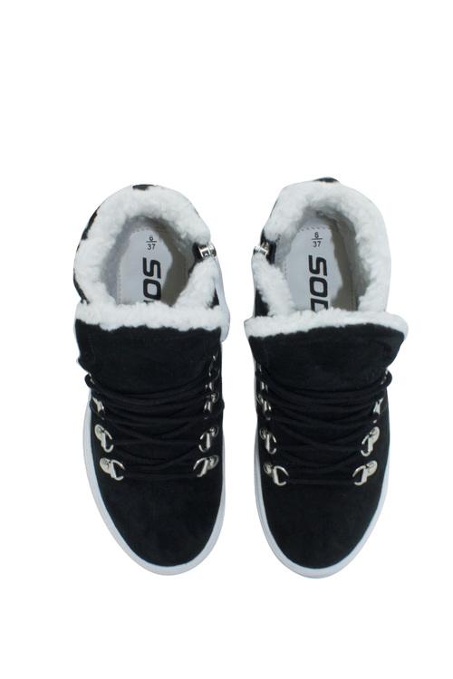 Soda Swirl Suede Wedge Sneaker