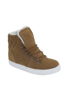 Soda Swirl Suede Wedge Sneaker - 257996