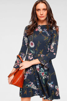 Urban Printed Fit & Flare Dress - 258012