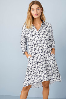 Mia Lucce Classic Flannel Nightshirt - 258034