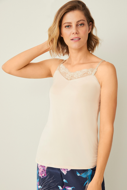 Mia Lucce Adjustable Lace Trim Cami