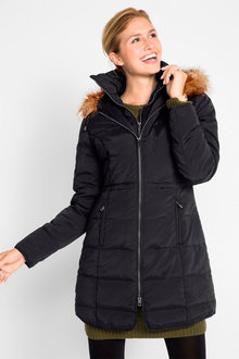 Urban Fur Trim Hooded Puffer - 258063