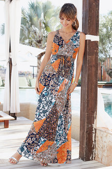 European Collection Wrap Front Maxi dress - 258088
