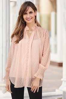 European Collection Shirred Detail Blouse - 258089