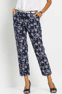 Euro Edit Printed 7/8th Pants - 258094