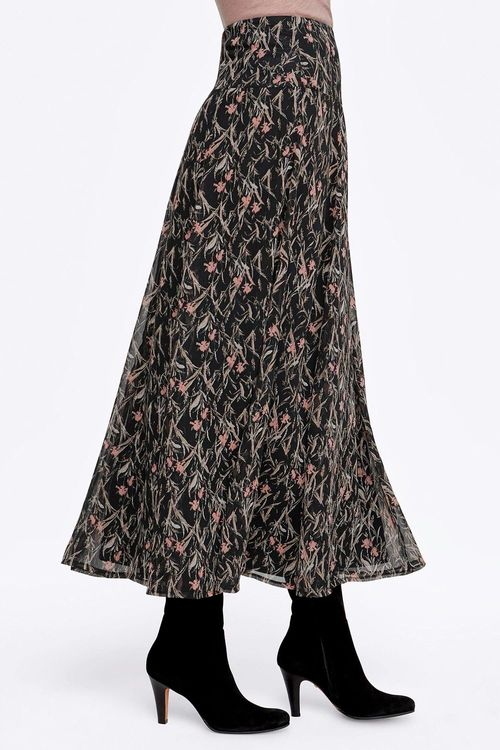 Euro Edit Printed Maxi Skirt