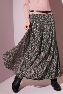 Euro Edit Printed Maxi Skirt - 258100