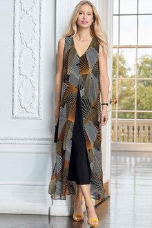European Collection Split Front Dress - 258115