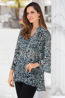 European Collection Leopard Print Top - 258117