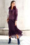 Euro Edit Printed Long Skirt