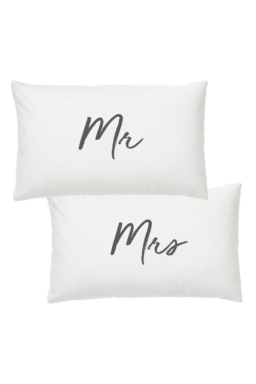 Splosh Wedding Mr & Mrs Pillow Case Set