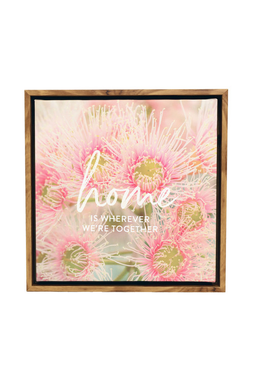 Splosh Flourish Home Framed Canvas
