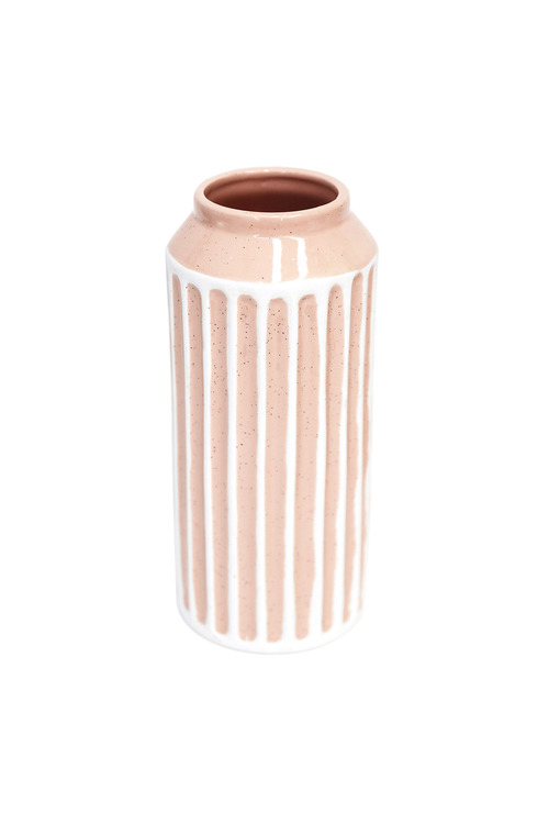 Splosh Flourish Peach Stripe Large Vase