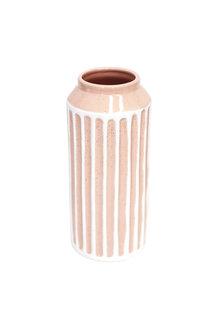 Splosh Flourish Peach Stripe Large Vase - 258269